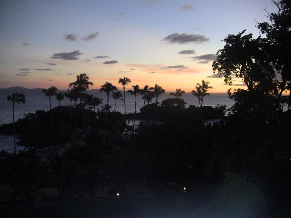 Sunset at Cayo Levantado