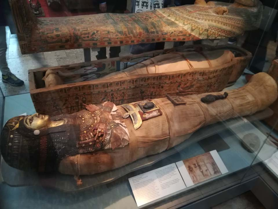 Egyptian mummies in the British Museum in London