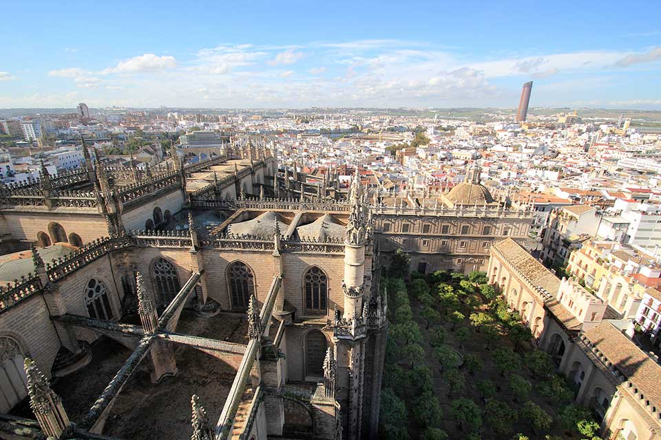 The view from the Giralda in Seville