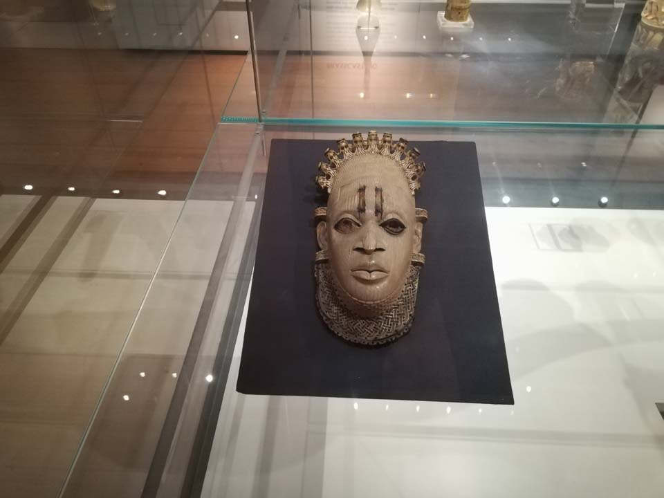 The Festac Mask on display in the British Museum
