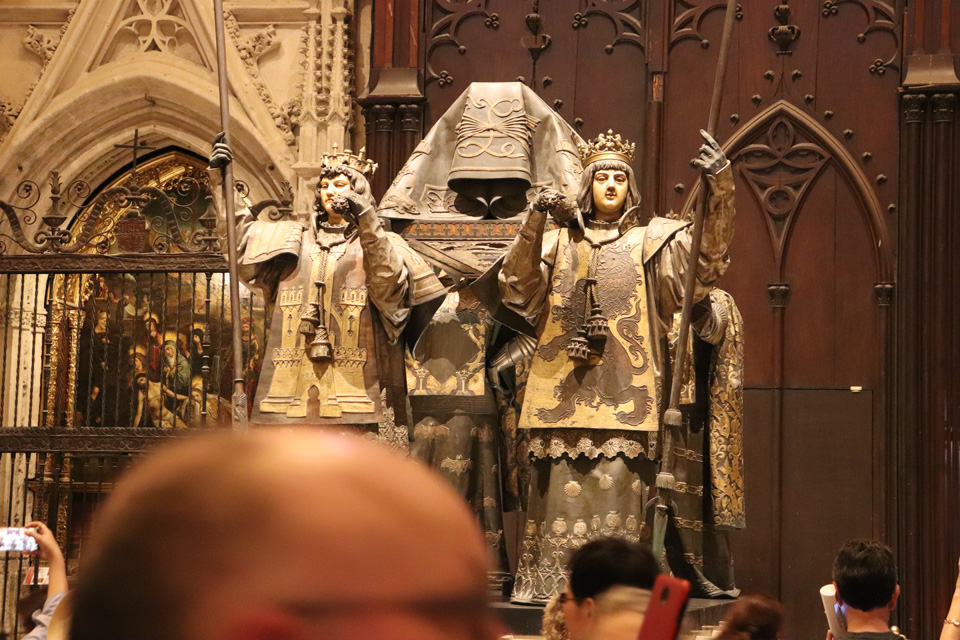 The tomb of Christopher Columbus in Seville Cathedral
