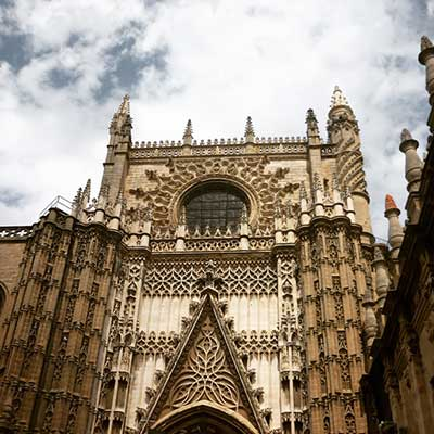 A view of the Seville Cathedral from outside