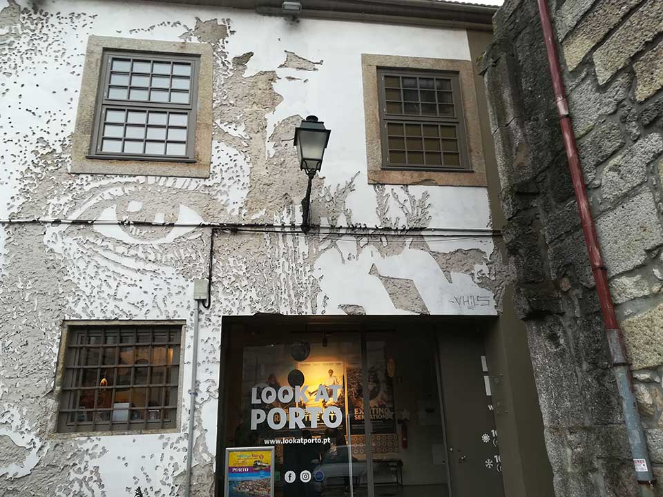 Street art by Vhils