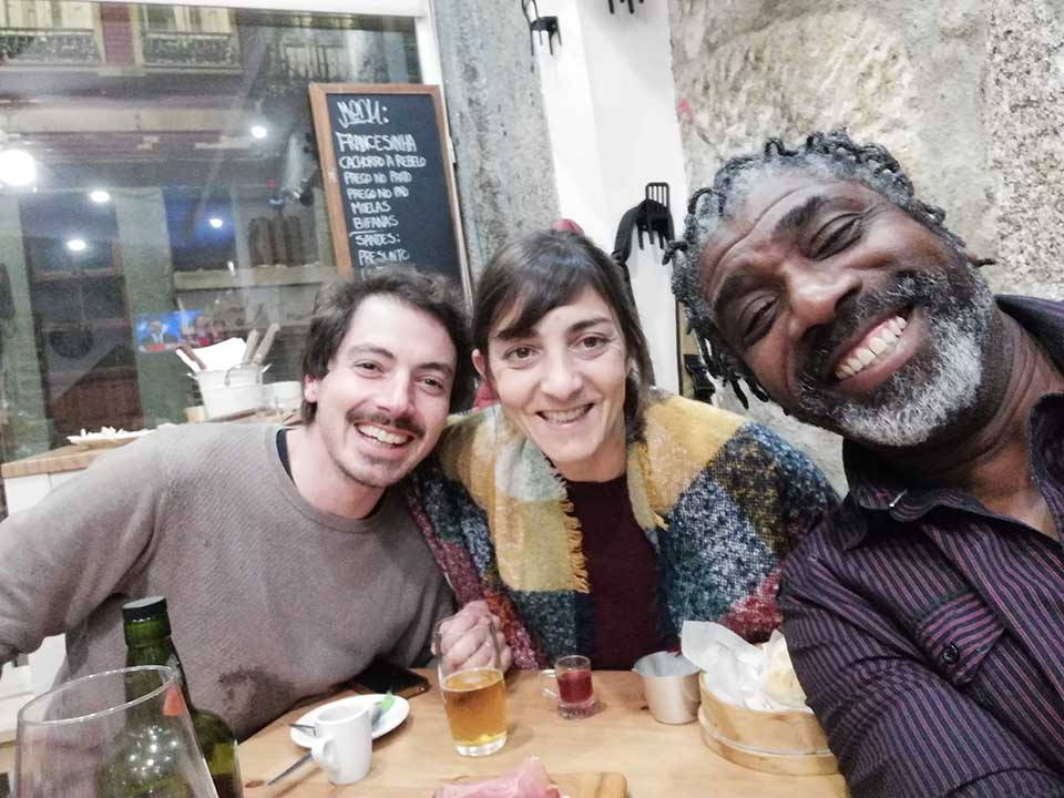 Artur, Marta & me on the Porto food tour at a local restuarant