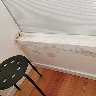 Damp walls in Airbnb apartment