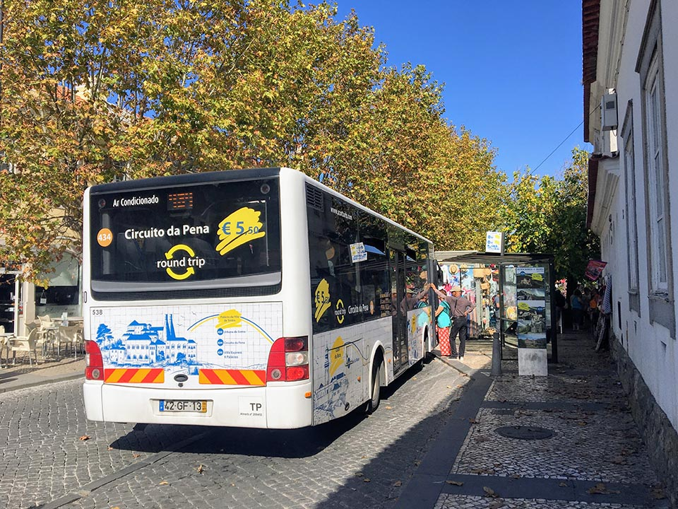 The 434 bus on my day trip to Sintra