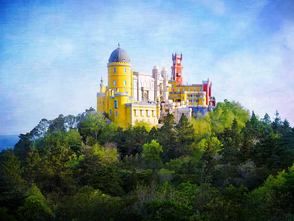 A view of Pena Palace on my day trip to Sintra